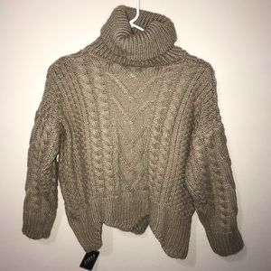 ZAFUL chunky knit turtleneck sweater